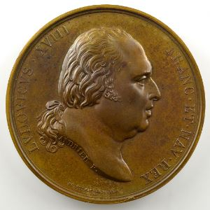 Andrieu/Jaley   Bronze   51mm   1814   Charte Constitutionelle du 4 juin 1814    SUP
