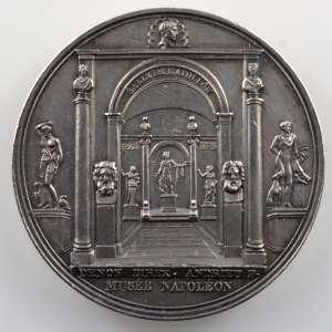 ANDRIEU   Médaille en argent  32mm   Musée Napoléon   TTB+/SUP nettoyée
