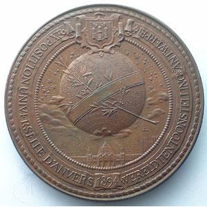 BAETES Jul.   Léopold II   bronze   61mm    SUP