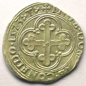 Blanc de 4 Soldi   Emmanuel Philibert  (1553-1580)   1573 T  (Turin)    TTB