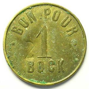 Bon pour 1 Bock  (contr. 2)   Lt, R   21 mm   TB+/TTB