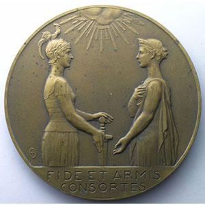 BONNETAIN   Centenaire de la Belgique 1830-1930   bronze   67mm    SUP