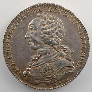 Ch. L. Aug. FOUQUET, Maréchal, Duc de Belle-isle   1760 argent    TTB+