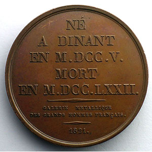 Charles Duclos  (Dinan 1705 - Paris 1772)   Médaille en bronze   41mm   1821    SUP/FDC