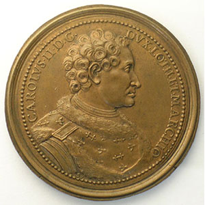 Charles II   bronze   47 mm    TTB+