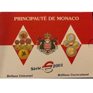 Coffret BU Monaco euros   2001