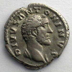 Denier frappé sous Marc-Aurèle et Lucius-Vérus   (Rome 161)    TTB