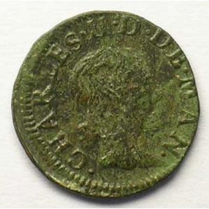 Denier tournois   (Charles II de Gonzague 1637-1659)   1653    TB/TB+