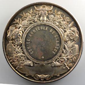DESAIDE   Médaille en argent  69mm   Comice Agricole de Clamecy    SUP