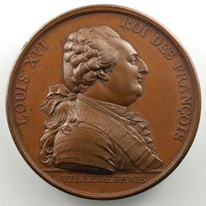 Du Vivier   Médaille en bronze   63mm   Arrivée du Roi à Paris le 6 octobre 1789    SUP