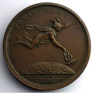 Duvivier/C.N.Roettiers   Préliminaires de la paix à Vienne   bronze   41mm    SUP/FDC