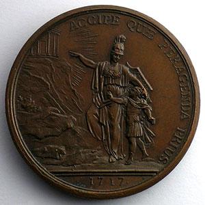 Duvivier   Education du Roi   bronze   1717   42mm    SUP/FDC