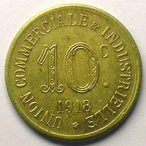 Elie 10.5   10 c 1918   Lt,R  23 mm   (Essai)    FDC