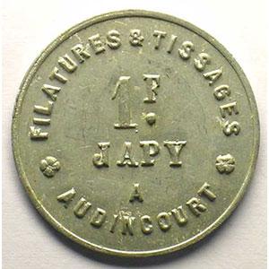 Elie 15,7   1 Franc   Al,R   25 mm   TTB/TTB+