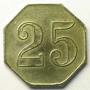 Elie 75.4   25 c   Ma,8   23 mm    TTB