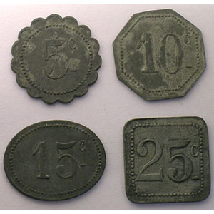 Elie B265.8 à 11   5, 10, 15 et 25 c    TTB