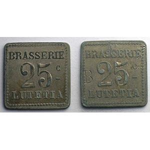 Elie B790.2   25c et 25 c contr. B   ZnNi, 4a  22mm    TTB