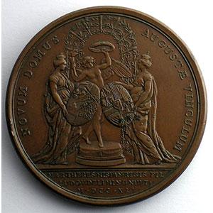 F.Marteau/J.C.Roettiers   Premier mariage du Dauphin avec Marie-Thérèse d'Espagne   bronze   41mm    SUP