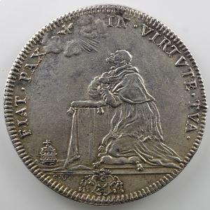 Ferdinand de Saint-Urbain   Demi-piastre en argent  38mm   Le Pape à genoux   An VI    TTB+/SUP