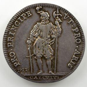 Ferdinand de Saint-Urbain   Jeton en argent  28mm   Ferdinand de Lunati-Visconti   1711    TTB/TTB+