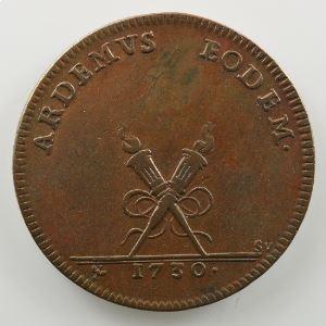 Ferdinand de Saint-Urbain   Jeton en bronze  29mm   Nicolas de Corberon   1730    TTB