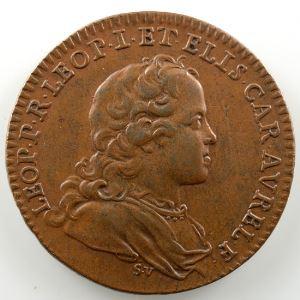 Ferdinand de Saint-Urbain   Jeton rond en bronze  26mm   Léopold-Clément   1714    TTB+