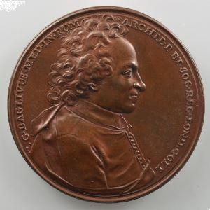 Ferdinand de Saint-Urbain   Médaille en bronze  38mm   Baglivus   1704    SUP/FDC