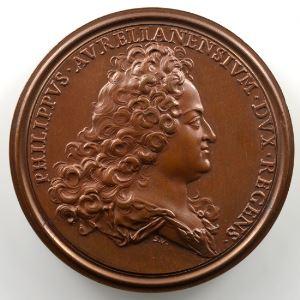 Ferdinand de Saint-Urbain   Médaille en bronze  44.5mm   Philippe d'Orléans - La protection accordée aux arts  1716 - seconde légende    SUP/FDC