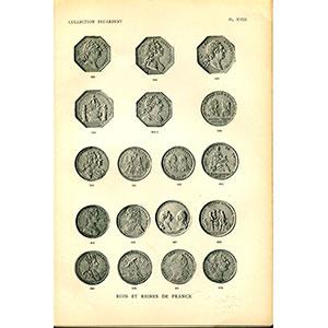 FEUARDENT (collection)  jetons et méraux   Planches, premier cahier   Rois et Reines de France