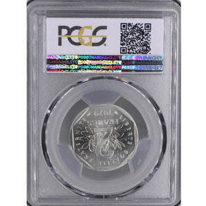 G.546P   2 Francs   1979  Piéfort en argent    PCGS-SP67    FDC