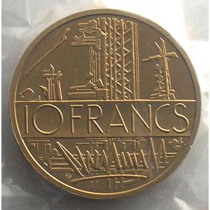 G.814P   10 Francs   1977 cupro-nickel-alu    FDC