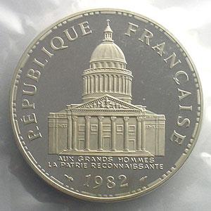 G.898P   100 Francs   1982 argent    FDC