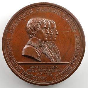 GATTEAUX   Colonne du Département de la Seine   An VIII (1800)   bronze   60 mm    SUP