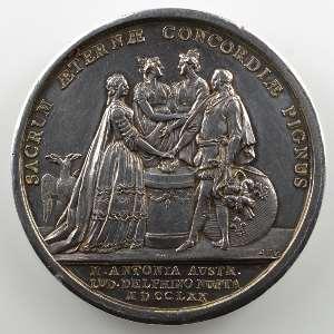 GATTEAUX/DUVIVIER   Médaille en argent  42mm    SUP
