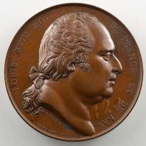 Gayrard/De Puymaurin   Médaille en bronze  41mm   1823    SUP/FDC