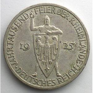 GDM 73   3 Reichsmark   1925 G   Rheinlande    TTB+/SUP