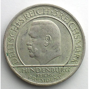 GDM 85   3 Reichsmark   1929 A   (10° anniversaire de la constitution de Weimar)    TTB+/SUP