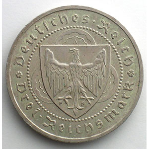 GDM 87   3 Reichsmark   1930 A   Walther von der Vogelweide    SUP