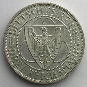 GDM 88   3 Reichsmark   1930 G   Rheinlandraümung    SUP