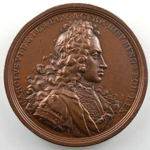Georg Wilhelm Vestner   Médaille en bronze   44mm   Charles VI   1711    TTB+