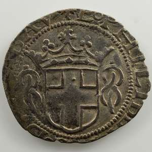 Grosso  1er type   Emmanuel Philibert  (1553-1580)   1558 NV  (Aoste)    TB+/TTB