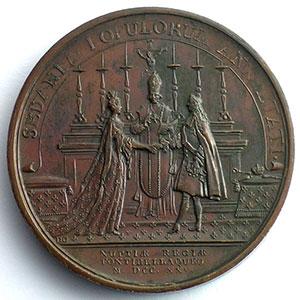 J. Duvivier/J. Dollin   Cérémonie du mariage de Louis XV et de Marie Leszczynska   bronze   41mm    SUP/FDC