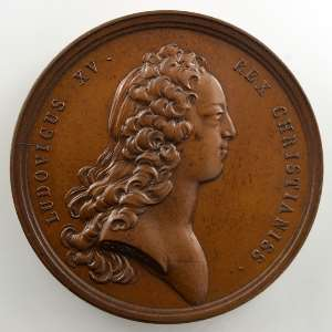 J. Duvivier/J. Le Blanc   Le Roi protecteur des Sciences et des Arts   bronze   41mm    SUP/FDC