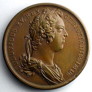 J.Duvivier/J.Le Blanc   Naissance du Duc d'Anjou   bronze   41mm    SUP/FDC