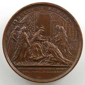 J. Duvivier   Promotion de Chevaliers de l'Ordre du St Esprit   bronze   41mm    SUP/FDC
