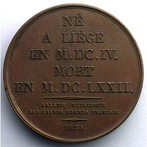 Jean Varin  (Liège 1604 - Paris 1672)   Médaille en bronze   41mm   1820    SUP/FDC