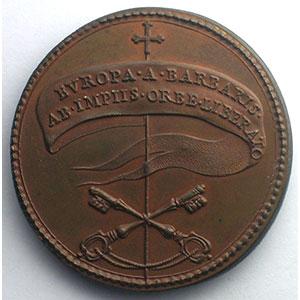 Jean XXI (1276-1277)   médaille de restitution des Papes par Ferdinand de Saint-Urbain   bronze   40mm    SUP/FDC