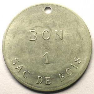 Jeton de Chauffage   Bon 1 sac de bois   Alu, R tr  38,5mm    TTB+