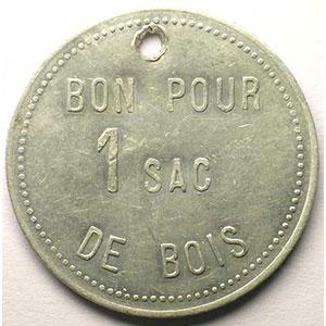 Jeton de Chauffage   Bon pour 1 sac de bois   Alu, R tr  38,5mm    TTB