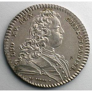 Jeton en argent   Louis XV   1720    SUP